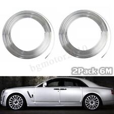 2X 20FT Chrome Moulding Trim Strip Car Door Edge Scratch Guard Protector Cover