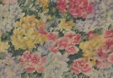 """Pink Yellow Blue Floral Window Valance 94"""" by 16.5"""" Cottage Vintage Curtains"""