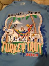 2013 TAMPA BAY TIMES TURKEY TROT THANKSGIVING DAY PUR DRY PERFORMANCE T-SHIRT L