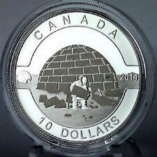 2014 Canada $10 Igloo, Fine Silver, Matte Finish Proof, O'Canada series
