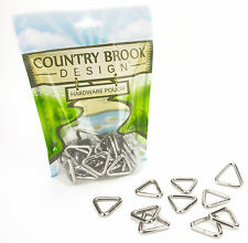10 - Country Brook Design® 3/4 Inch Welded Triangle Rings