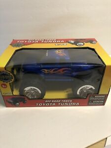 Blue Toyota Tundra Off Road Truck Friction Powered. 1:18 Scale. Blue Brand New!