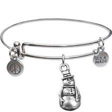 Usa Made - BbandJt150 Bangle Bracelet and Snowman -