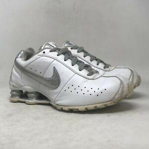 Nike Womens Shox Classic II 343907-103 White Running Shoes Lace Up Size 8.5