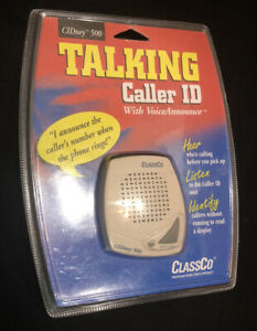 ClassCo Talking Caller ID With Voice Announce CIDney 500 English Spanish Phone