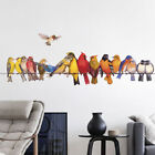 Funny Bird Stand On Wire Wall Stickers For Home Decoration Removable Stick Fo