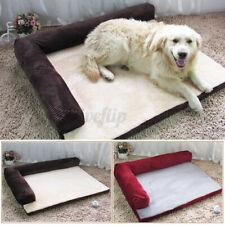 Soft Warm Pet Dog Memory foam Corduroy Sofa bed mat Coffee Burgundy S/M/L/XL