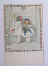 """ enfants, fleurs, manteau, porte "" 1953, Pauli Ebner (45831)"
