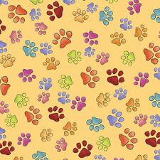 Happy Cats Paws by Designer Loralie 100% cotton Fabric by the yard