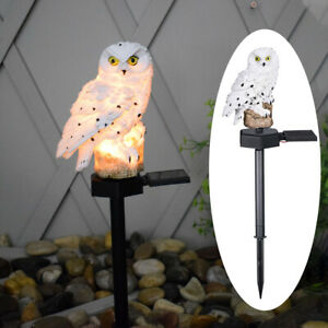 Solar LED Light Stand Owl Garden Landscape Yard Outdoor Decor Lamp Always Bright