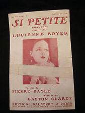 Partition Si petite Lucienne Boyer Bayle Claret Music Sheet