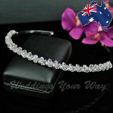 Delicate Crystal Bridal Tiara Headband Rhinestone Diamante Wedding Formal SALE