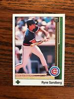 1989 Upper Deck #120 Ryne Sandberg Baseball Card Chicago Cubs Raw