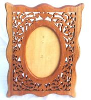 """Ornate Laser Cut Wood Statement Easel Picture Frame 13x10"""" for 7x5"""" Photo 2003"""