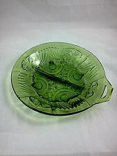 Indiana Killarney Green Pressed Glass Divided Dish