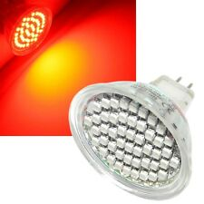 5x SMD LED Reflector MR16 rojo - 48 LEDs Foco GU 5,3 12v