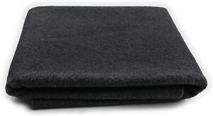 "100% MERINO WOOL FELT 18 X 22"" Sheet-  MADE IN USA- Black, Sew, Craft, Pure Wool"