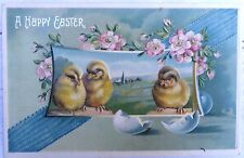 EASTER Postcard 1903 Antique Victorian Ben Franklin One 1 Cent Postage Stamp