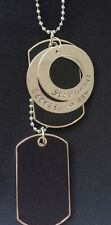 mens personalised Double dog tag necklace
