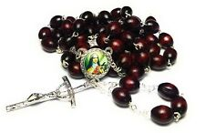 3rd class relic rosary Saint Therese Child Jesus Lisieux cherry color HIV AIDS