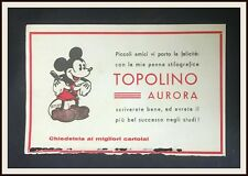 TOPOLINO PENNA AURORA carta assorbente promozionale - 1935 - DISNEYANA.IT