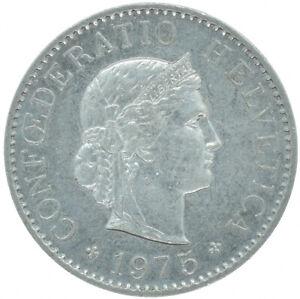 COIN / SWITZERLAND / 5 RAPPEN / HELVETICA  / 1975  #WT16634