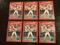 (6) 1990 Donruss JUAN GONZALEZ (3) Reverse Negative Error & (3) Corrected Cards