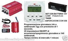 AMPLIFICATORE USB PLAYER TIMER TDS-12 V BATTERIA 12V TROMBA ADATTO CANTO UCCELLI