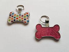 Personalised Luxury Pet ID Tag BONE Design Dog Tag ID Tag - MADE IN SHEFFIELD UK