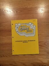 The Game Show Pinball Game Operation & Parts Information Manual, Bally 1990
