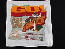 Vintage 1996 Seattle Supersonics NBA Pacific Division Champions Rally Towel