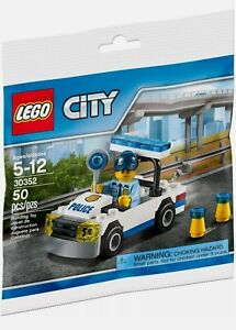 LEGO City Police Car With Cop Minifigure New & Sealed Polybag Set 30352 Gift