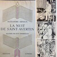 🌓 Alexandre ARNOUX La Nuit de Saint-Avertin illustré par Jean TIMMERMANS 1944