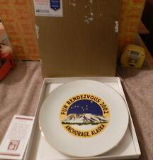 Fur Rondy Rendezvous Souvenir Plate Ceramic 2002 Anchorage Alaska Fast Free Ship