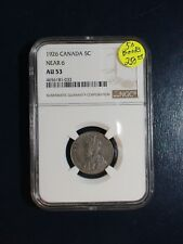1926 Canada Nickel NGC AU53 NEAR 6 BETTER DATE 5C Coin PRICED TO SELL QUICKLY!