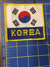 Vintage Korea Flag Patch Yin Yang Yellow Border South Taekwondo Korean