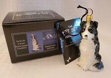 Joy to the World Collectibles Border Collie Dog Glass Christmas Ornament - Nib