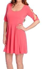 NEW The Countess Collection Stretch Knit Elbow Sleeved Scoop Neck Dress - M