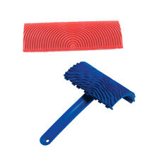 2Pcs Red MS3 Wood Grain Design Rubber And Painting Tool For Wall DIY Decor