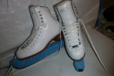 Womans sz  4 1/2 RIEDELL # 255 White  Figure ice skates  OH YES