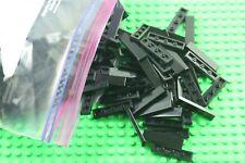 50 X  lego 1 X 4  FLAT TILE  BLACK  243126
