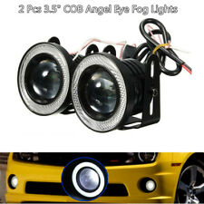 "12V 3.5""LED Car SUV Truck Fog Light White Angel Eye Standlichtringe Driving Lamp"