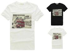 New Men's Casual Fashion Stylish 'London Bus' Short Sleeve T shirts