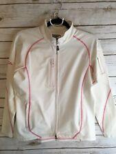 Euc Peter Millar Full Zip Long Sleeve Wind Jacket Medium White Pink Mountaintop