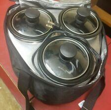 Crock Pot - Little Triple Dipper Slow Cooker - 3×16 oz - SCRMTD307