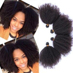 Mongolian Afro Kinky Curly Virgin Hair Weave Brazilian 100% Human Hair Extension