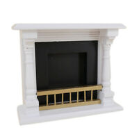 Dolls House Accessories 1/12 Toys Mini Wood Fireplace Decoration Miniature K9G2