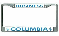 Columbia University Business Chrome License Plate Frame