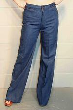 NOS S-M  Vtg 70s 29 x 34.5 Wrangler HIPPIE Bell Bottom Denim Blue Jeans PANTS