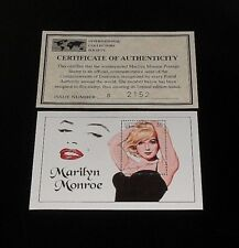 1994, DOMINICA, MARILYN MONROE, LIMITED EDITION, $6 SOUVENIR SHEET, W/COA